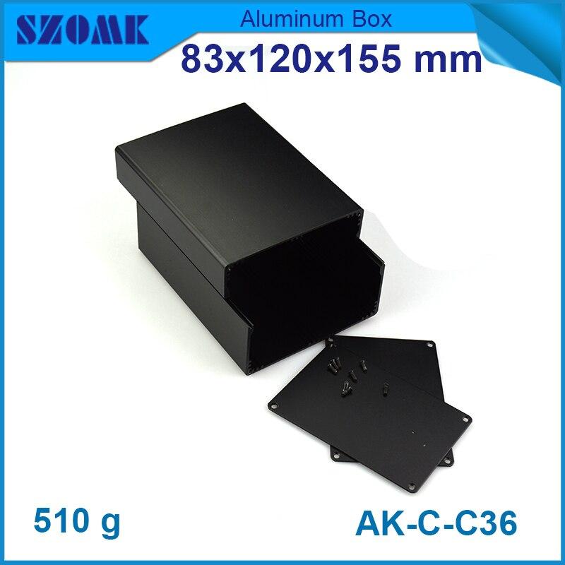 1 stück kostenloser versand Schwarz farbe aluminium gehäuse fall für ...