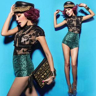 Green Sequin Shorts Promotion-Shop for Promotional Green Sequin ...