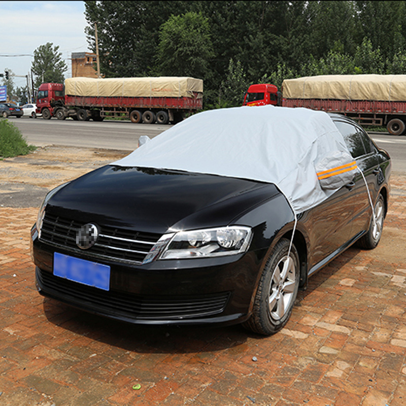 The Winter Snow Thick Frost Protection Cover Half Half Car Garment