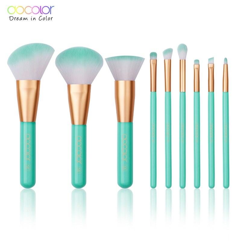 Docolor 9 stücke Schönheit Make-Up Pinsel Set Kosmetik Foundation Powder Blush Lidschatten Lip Mischung Machen Up Pinsel Tool Kit maquiagem