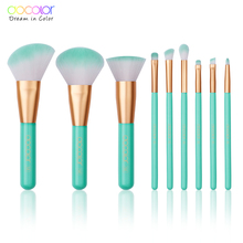 Docolor 9PCS Beauty Makeup Brushes Set Cosmetic Foundation Powder Blush Eye Shadow Lip Blend Make Up Brush Tool Kit Maquiagem