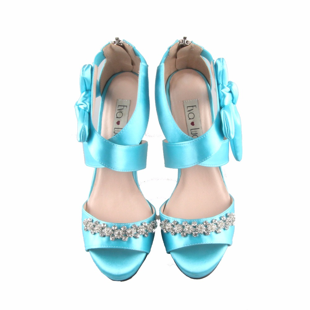 CHS645 Aqua Blue Turquoise Women\'s Shoes Wedding Shoes Sandals ...