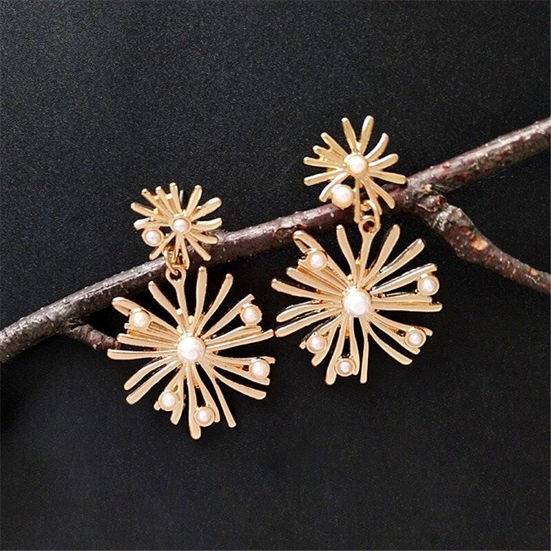 Womens fashion Bohemian women earrings stud jewelry 2018 Modern beautiful pearl gift