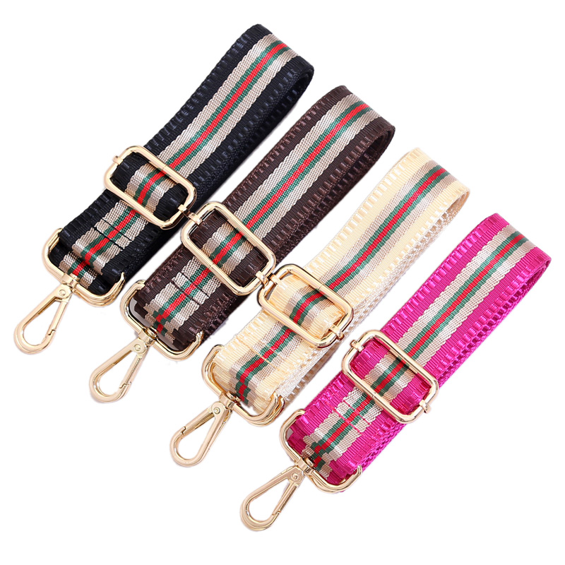Nylon Colored Bags Straps Rainbow Belt Accessories Women Adjustable Shoulder Hanger Handbag Straps Decoration Handle KZ151308 burgundy adjustable shoulder straps sleeveless lace lingerie sets