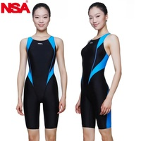 NSA swimwear free shipping women professional training competition swimwear waterproof girls kids racing swimsuit bathing suit