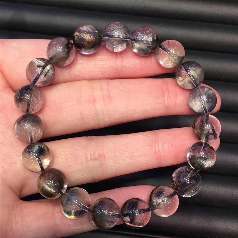 Natural Silver Rutilated Quartz Crystal Bracelet (6)