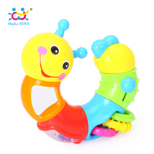 HUILE TOYS 786B Kids Educational Toys Baby Rattle Lovely Worm Toys Insert Puzzle Turning Toys for Baby Fingers Flexible Training