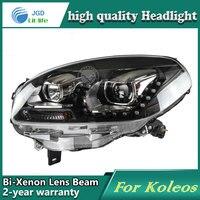 Renault Koleos araba Styling için Kafa Lambası durumda Farlar LED Far DRL Lens Çift Işın Bi-Xenon HID Aksesuarları