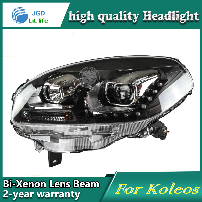 Car Styling Head Lamp case for Renault Koleos Headlights LED Headlight DRL Lens Double Beam Bi-Xenon HID Accessories microfiber leather steering wheel cover car styling for renault scenic fluence koleos talisman captur kadjar