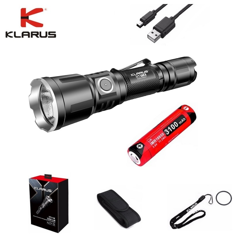New Original KLARUS XT11X Led Flashlight CREE XHP70.2 P2 3200 LM Tactical Flashlight with Micro-USB Cable and 18650 Battey New Original KLARUS XT11X Led Flashlight CREE XHP70.2 P2 3200 LM Tactical Flashlight with Micro-USB Cable and 18650 Battey