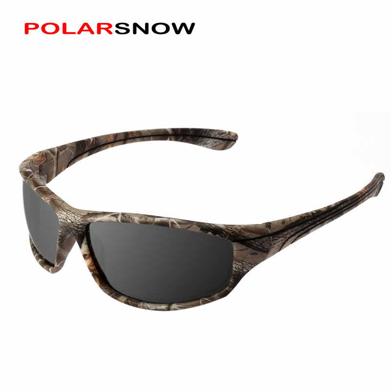 053d093b2e0 POLARSNOW TR90+Rubber Polarized Sunglasses Camo Frame Sports Sun Glasses  Men Goggles UV400 Shade P8737MI