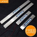 Stainless steel LED Door sill scuff plate car accessories For SKODA Octavia A5 A7 2011 2012 2013 2014 2015 2016 4PCS 1SET