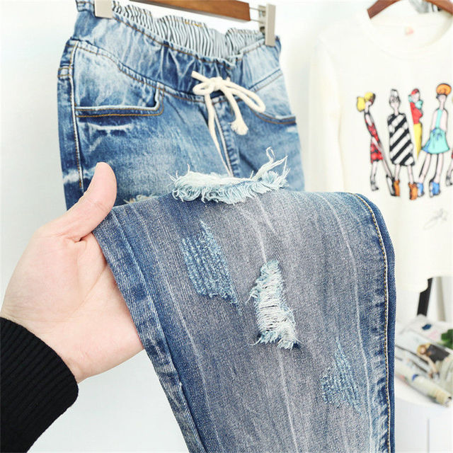 Summer Ripped Boyfriend Jeans For Women Fashion Loose Vintage High Waist Jeans Plus Size Jeans 5XL Pantalones Mujer Vaqueros Q58 6