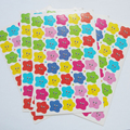 200pcs/paket New Little Star Student reward stickers cute little apple face teaching to encourage small red Sticks