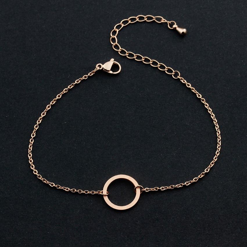 Vintage Round Circle Armband För Kvinnor Stainless Steel Geometric - Märkessmycken - Foto 4