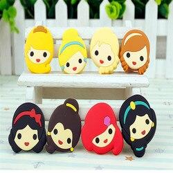 Mix 50 pçs princesa elsa anna pingentes flatback pvc diy gadgets ajuste pulseiras sapato encantos acessórios para o cabelo botão crianças presente