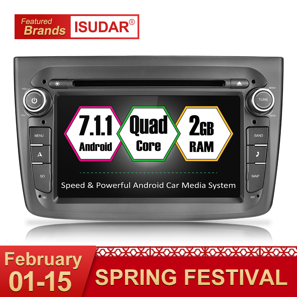 Isudar Auto Multimedia player 1 din Auto DVD android 7.1.1 7 Pollici Per Alfa Romeo mito 2008-Quad Core 2G di RAM Radio FM GPS USB DVR