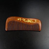 Hot Sale Handmade 12 5cm Small Red Sandalwood Boutique Comb Hairdressing Professional Health Care Sandalwood Wooden