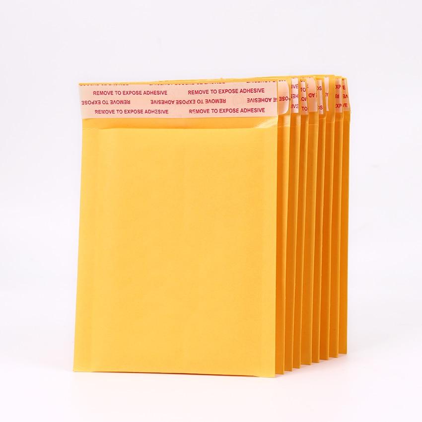 Мм 5 шт. 130*110 мм Kraft бумага Пузырь Конверты Сумки пузырьковый почтовый пакет почтовых отправителей Мягкий почтовый конверт бизнес поставки