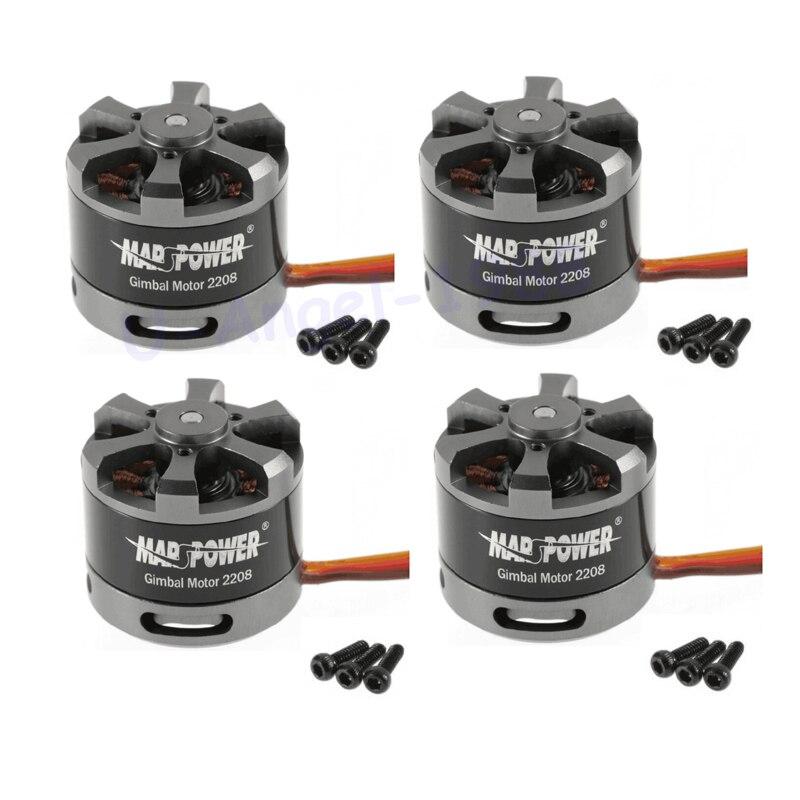 4 2208 MARSPower Motor cardán sin escobillas set/lot 80 t para Gopro CNC cámara Digital montaje FPV envío gratis