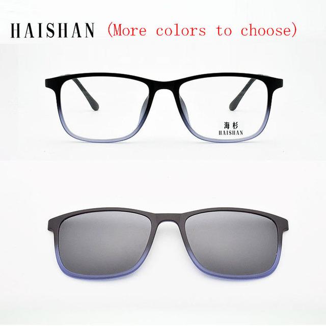 El Super Light Tr90 Gafas de Marco de Anteojos Completos Marco Imán de Color Gradual Película Gafas De Sol Polarizadas Marco de Color Degradado