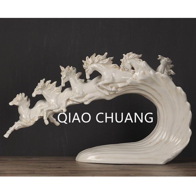 3 Colour European Style Ten-Thousand Horses Running Creative Colophony Crafts Opening A Housewarming Gift G796
