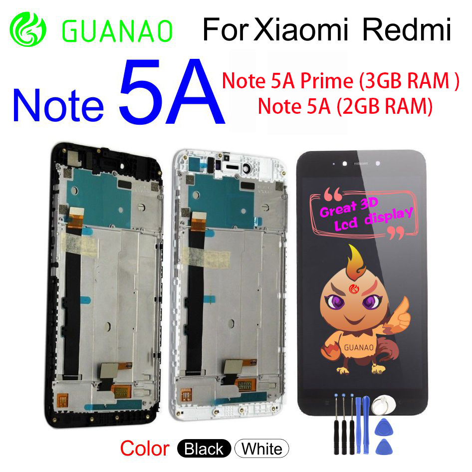 For Xiaomi Redmi Note 5A Note5A 5A Prime Pro LCD Display Panel Screen Module Touch Screen Digitizer Sensor Assembly Black WhiteFor Xiaomi Redmi Note 5A Note5A 5A Prime Pro LCD Display Panel Screen Module Touch Screen Digitizer Sensor Assembly Black White