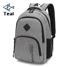 2019 New Fashion Men's Backpack Bag Male Canvas Laptop Backpack Computer Bag high school student college student bag male(China)