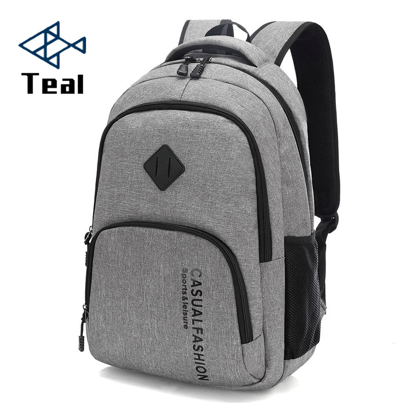 2019 New Fashion Men's Backpack Bag Male Canvas Laptop Backpack Computer Bag high school student college student bag male image