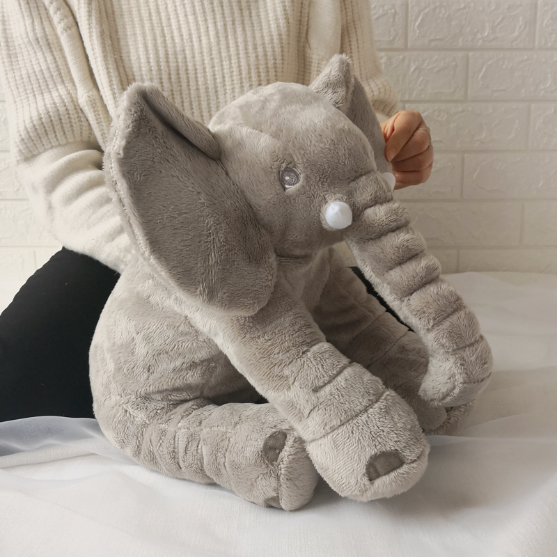 40cm Soft Elephant Pillow Plush Toy Stuffed Animal Elephant Baby Sleep Toys Room Decoration Gift For Kids