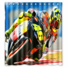 Vixm Motorcycle Shower Curtains Valentino Rossi Fabric