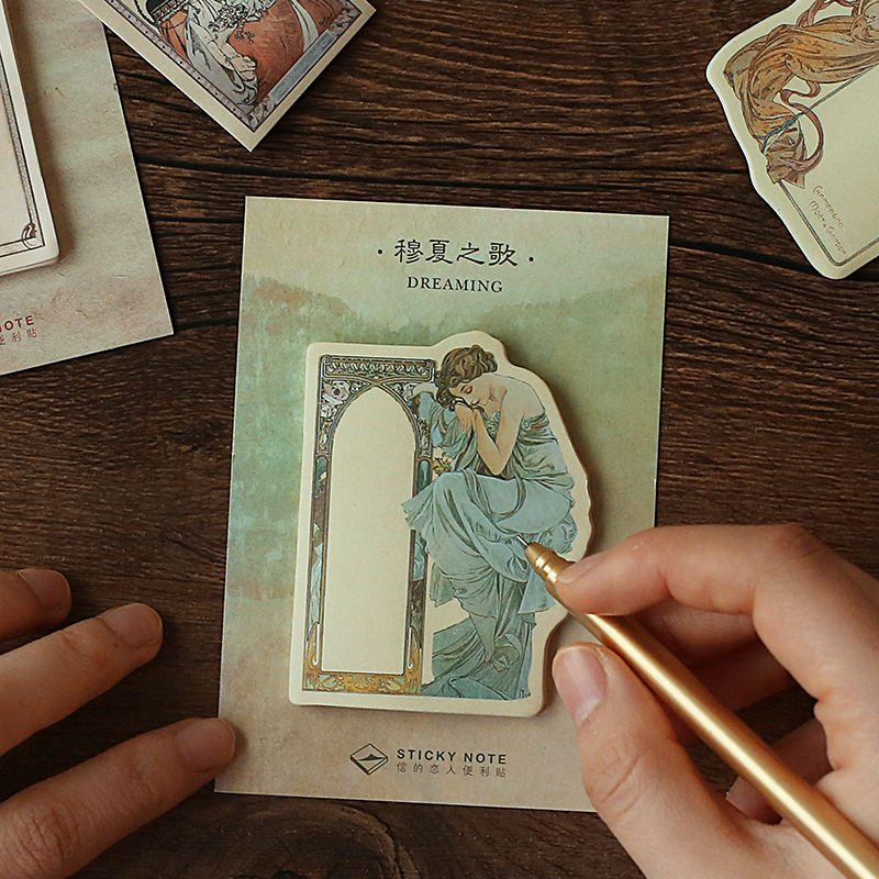 30 Sheets/pad Epic Poetry Vintage Memo Pad N Times Sticky Notes Escolar Papelaria Supply Bookmark Label