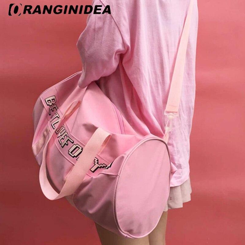 Women Tote Bag Lady Pink Boston Bag Cartoon Bunny Printed Handbag Sweet Girl  Large Capacity Shoulder Crossbody Bags  Sac A Main