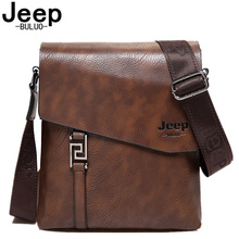 JEEPBULUO marca de moda bolsos de hombre impermeable de cuero dividido bolsos de bandolera de negocios maletín de mensajero bolso de hombro masculino 5846