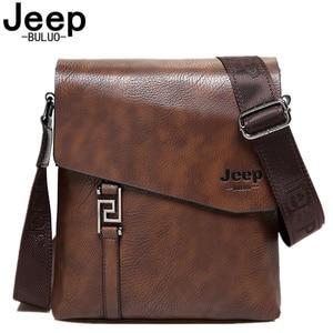 Image 1 - Jeepbuluo 브랜드 패션 남자 가방 방수 분할 가죽 crossbody 가방 비즈니스 서류 가방 메신저 가방 남성 숄더 백 5846