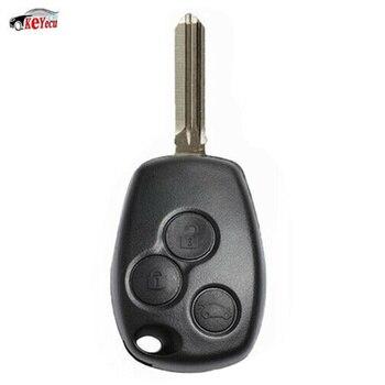 KEYECU Thay Thế Từ Xa Chìa Khóa Xe Ô Tô 3 Nút 433 Mhz PCF7961M HITAG AES Chip cho Renault Uncut HU136TE Lưỡi Dao