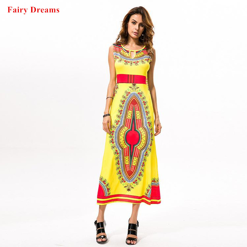 Dashiki Vetements Africains Traditionnels Or Imprime Robes Africaines Pour Femmes 2018 Ete Sundress Vetement Africain Pour Femme Aliexpress