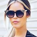 2017 Fashion Round Sunglasses Women Big Frame Sunglass Rhinestone Retro Street Style Female Sun Glasses Oculos De Sol Gafas YJ08
