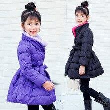 2017 New Children Down Parkas Clothes Winter grils camouflage cotton in children Winter Kids Cotton Outerwear