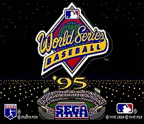 World Series Baseball 95 - 16 bit MD Games Cartridge For MegaDrive Genesis console