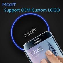 Мобильный телефон ци Беспроводной Зарядное устройство площадку для Samsung Galaxy S8 S6 S7 S7 край iphone 8 8 Plus x Беспроводной зарядки логотип oem
