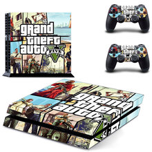 PS4 Skin Grand theft auto Stickers Decal For Sony PlayStation 4 Console & 2 Controllers