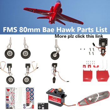 FMS 80mm Bae Hawk Red Arrow EDF Ducted Fan Jet Parts Retract Landing Gear Set System Motor ESC RC Airplane Model Plane Aircraft image