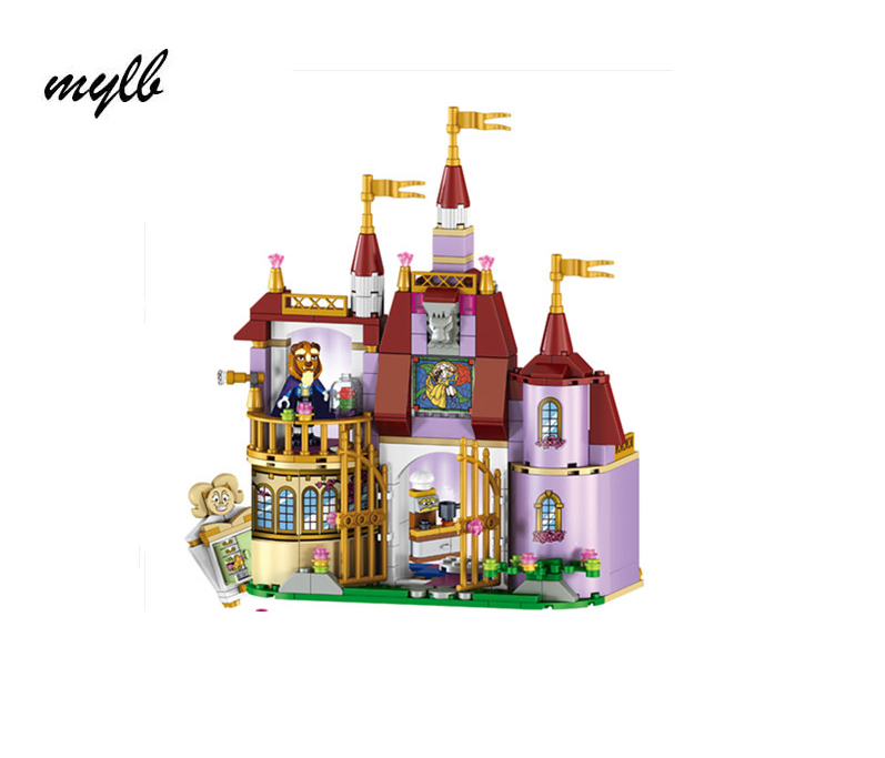 mylb Princess Cinderella Castle Palace Girl Friends Building Blocks 379pcs Bricks Toy For Children Birthday Compatible princess ponies 6 best friends for ever