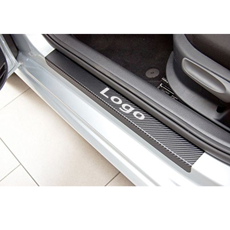 Excellent New For Volkswagen VW POLO polo 2011 2012 2013 2014 2015 accessories Carbon fiber Vinyl Door sill plate car styling built guard bump guard plate after the pedal steel trunk for 2011 2012 2013 2014 vw volkswagen polo hatchback