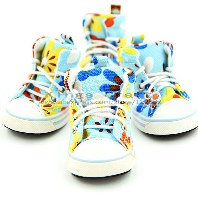 Pet Dog Canvas Shoes, Anti-skidding, Multicolor Dog Sport Shoes Free Shipping