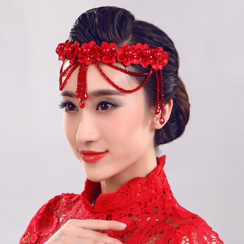 Bride Head Piece: Shinny Crystal Bridal Wedding Head Piece Bride Headwear