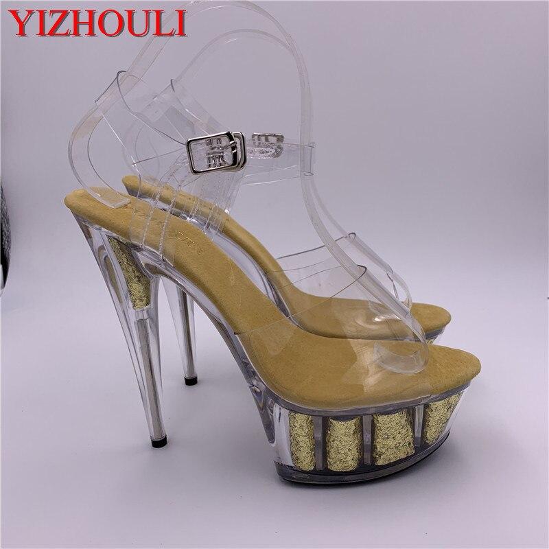 Stage high-heeled women 2019 catwalk show sexy stiletto sandals 15cm bride shoes banquet wedding sandals