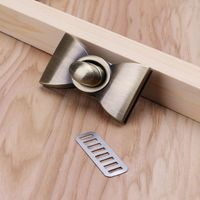 Bow Metal Clasp Twist Locks DIY Handbag Craft Messenger Shoulder Bag Turn Lock