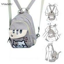Freies Verschiffen Katze Hinterhof Druck Mädchen Lolita Schulter Tasche Entzückende Student Rucksack Cartoon Mini Brust Tasche Rucksack